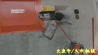 配置自动接料机器人的数控钢筋弯箍机现场视频