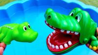 好有趣!都有哪些动物来到泳池里游泳呢?趣味玩具故事