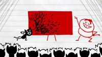 搞笑铅笔动画:艺术家养的猫!耳濡目染,也成了一只会画画的猫!