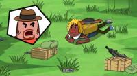搞笑吃鸡动画:马可波舍命拿平底锅,关键时刻救他一命,还助他成功吃鸡