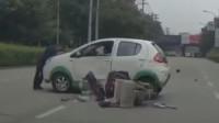 行车记录仪:不看后视镜突然掉头,摩托车男子惨遭截杀!
