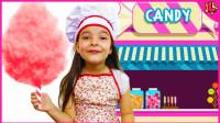超好玩!萌宝小萝莉怎么吃到棉花糖?可是吃完了还想吃,怎么办?儿童亲子游戏玩具故事