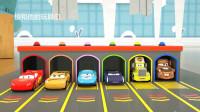 学习汽车 神奇车库中出现的形状 认识颜色 儿童玩具卡车