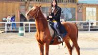 马不是那么好骑的,看看这位美女有多尴尬,连马都上不去