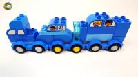 儿童积木拼插,组装小汽车托车玩具