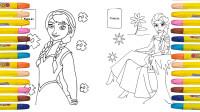 迪士尼公主蜡笔画:艾莎和安娜公主该如何上色呢?