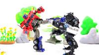 定格动画-乐高城市故事之Tobot机甲和擎天柱VS霸天虎路障