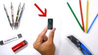小哥网购号称世界上最小的手机,这也太迷你了吧!