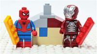 定格动画-乐高城市故事之蜘蛛侠和钢铁侠搭建度假村积木