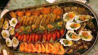 大胃王:小姐姐今天吃海鲜大咖,你这肚子要吃多少钱才能饱?