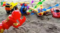 复仇者联盟、变形汽车和飞机玩具试玩,婴幼儿宝宝玩具过家家游戏视频G450