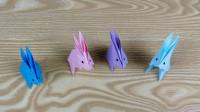 张洁凤教手工:小白兔,白又白,两只耳朵竖起来!