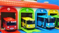 泰路小巴士的车库套装TAYO儿童玩具