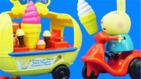 小猪佩奇瑞贝卡的雪糕车过家家玩具