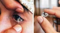 """现实版美人鱼?印尼女孩流出200颗""""钻石眼泪"""",竟可划破玻璃"""