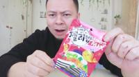 李大神试吃韩国橡皮糖,超有嚼劲,有四种口味