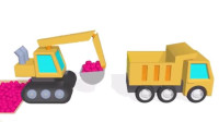 挖掘机视频表演大全63 工程车 推土机 挖土机玩具视频