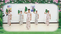阳光美梅原创-旗袍秀【藕断丝连】模特走秀中折扇的运用附分解教学-教学版-编排:美梅