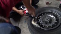 老外作死把可乐和曼妥思放入轮胎中,开上车的瞬间,整个人都不好了!