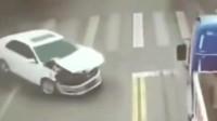 要不是有监控,永远都不会知道女司机是怎么开车的!