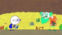 搞笑铅笔动画:小笨蛋游戏最高分被别人打破,为夺回榜首,把购物的事全忘光