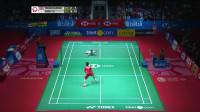 2019印尼羽毛球公开赛半决赛最佳球:周天成不放弃的精神让主持人都惊呼