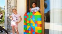 好搞笑!萌宝小萝莉把哥哥的所有房门都关上是要干什么?趣味玩具故事