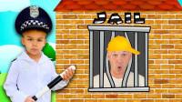 太坏了!警察小正太能抓到乱丢垃圾的叔叔吗?趣味玩具故事