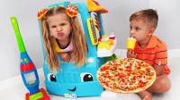真棒!萌宝小正太要怎样才能存够钱买披萨呢?趣味玩具故事