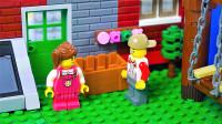 定格动画-乐高城市故事之一个乐高家庭的一天普通生活