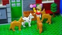 定格动画-乐高城市故事之和宠物狗狗搞笑生活的一天
