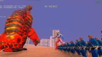赛罗奥特曼带领10000个X战警快银,挑战EX熔岩雷德王,谁能赢?