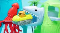 海底小纵队巴克队长的极速滑梯儿童玩具