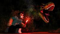 小飞象解说✘Roblox侏罗纪故事模拟器 遭遇霸王龙袭击!我被食人花吃了?乐高小游戏
