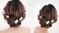 灵动优雅的新娘发型 超简单2股扭转蓬松编发