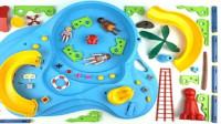 彩色滑梯泳池积木玩具拼装