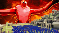 小泡解说全面战争模拟器:冰霜巨人大战500人帝国军队太壮观了!
