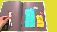 纸娃娃手绘剪贴纸活动手册,DIY妈妈和女儿闪亮公主连衣裙