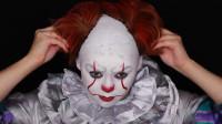国外女子将自己化妆打扮成了小丑,你觉得有几分相似?