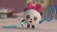 甜甜一个人玩滑板车和羽毛球,她还自己拼了一幅画呢!