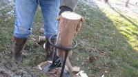 小工具大智慧,一天轻松劈5吨柴,效率提升10倍