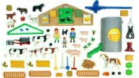 积木玩具拼装欢乐农场安置小动物们