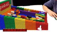 用磁珠设计组装精彩的皮球游戏,儿童玩具亲子互动