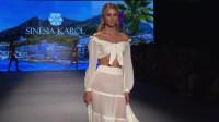 2020邁阿密時裝周Nessy 品牌泳裝秀,這身材也太好了,馬甲線都出來了