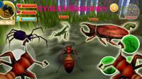 模拟蚂蚁:我看见毛毛虫想跳河,螳螂和天牛打架,跑去劝架却被打了