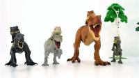 侏罗纪世界恐龙公园突击队Q版霸王龙小公仔玩具开箱展示