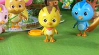 萌鸡小队小琦故事 第51集 四兄妹虽然精心的照顾恐龙宝宝 但还是弄丢了蛋宝宝