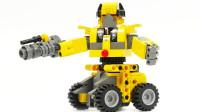 大黄蜂机器人积木玩具拆箱组装