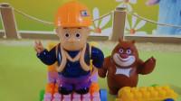 熊出没玩具故事:熊大来到光头强家,光头强没有砍树而是在改装积木车