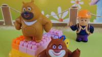 熊出没玩具故事:熊大熊二帮助光头强,没想到他造的是伐木车